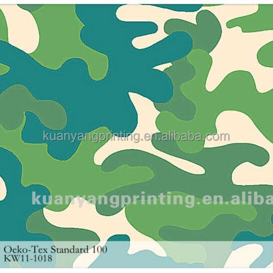 camouflage oxford printed fabric woven short