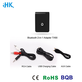 2-in-1 Bluetooth Receiver Transmitter Digital Optical and 3.5mm Wireless Audio Adapter for TV Home Car Stereo System
