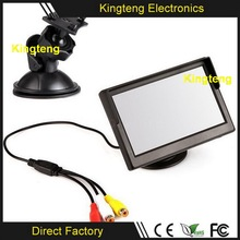 5 Inch Rearview Car Monitor Dashboard On 2AV Input