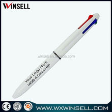 High quality white plastic ball pen with customer logo