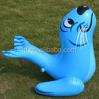 2015 Hot Sale Advertising 0.8m H PVC Inflatable Sea Lions Toy
