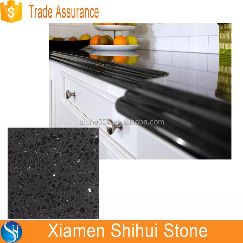 High Quality Black Composite Quartz Countertop