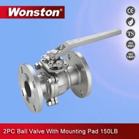 Wonston 150lb stainless steel flanged ball valve