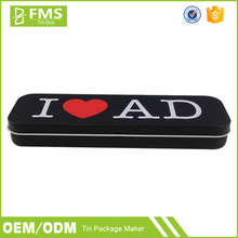 Custom Printed Korean Diy Advertising Tin Pencil Case For Teenagers