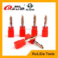 solid carbide ball nose end mill cutter sizes/ shell milling cutter