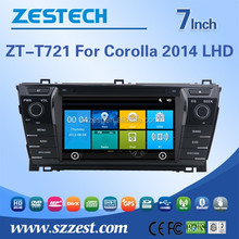 7 inch 2 din car dvd player for Toyota corolla 2014 autoradio navigation system RDS Bluetooth GPS Stereo left hand drive