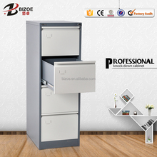 High quality second hand office furniture 4 drawer steel vertical filing cabinet