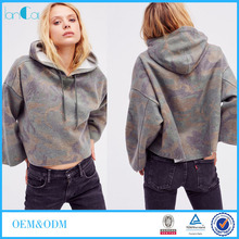 Cheap Custom Fully Print Oversized Camo Hoody for Women Crop Hoodies Pullover LC8494-N