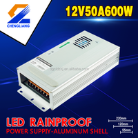 RAINPROOF 600W 12V CONSATNT VOLTAGE LED POWER SUPPLY HIGH PFC