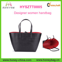 Nice designer black color leather woman handbags