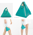 PU Leather Unique Triangle Tote Bag for Girls