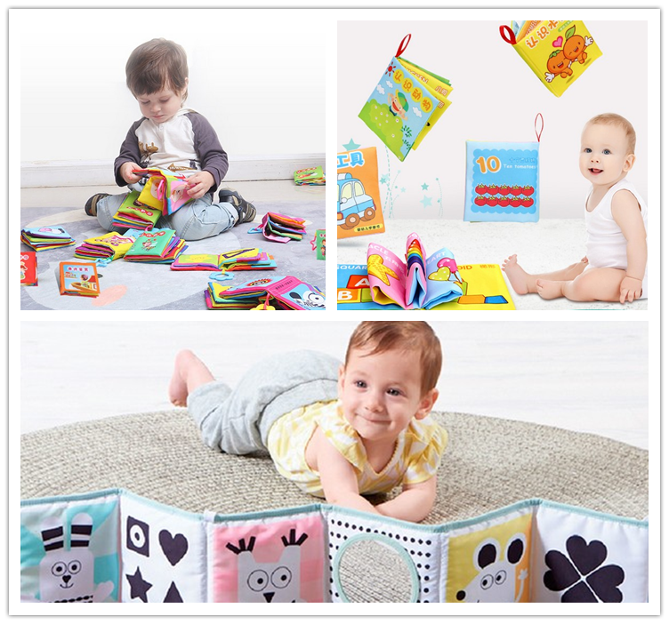 New arrival 2018 baby education book toy fabric book for baby