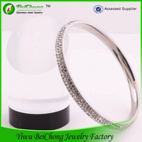 2014 Crystal Fine Jewelry Stainless steel main material different types of friendship charm bracelet of