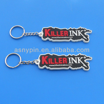 Custom KILLER INK logo design key ring fob