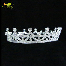 Queen Princess Tiara Full Crown Clear Rhinestone Crystal Bridal Wedding Pageant Party Prom Bride Accessories