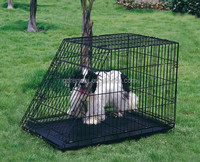 Outdoor galvanized chain link extra large dog cage