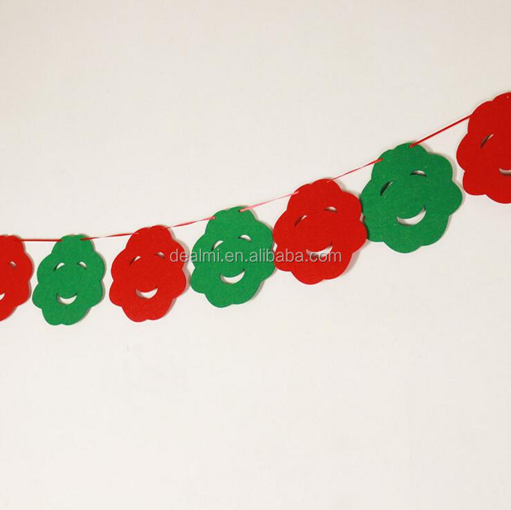 DEMIZXX639 Wholesale Custom Size New Fashion Best Selling Garland Cute Pattern Holiday Christmas Decorations For Office