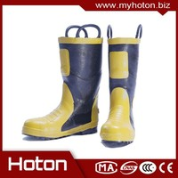 Hot selling Chemical resistant;Antiquashy safty firefighting boots with low price