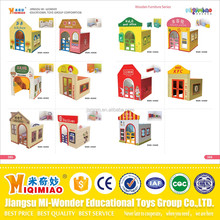 Indoor playground cheap wood playhouse for kids