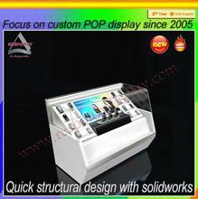 OEM design mobile phone display cabinet/ mobile phone counter/ mobile showcase for displaying smart phones