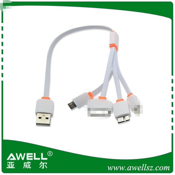 shenzhen USB data cable 4 in 1 universal usb cable for mobile phones multi charger cable For iphone ipad Samsung