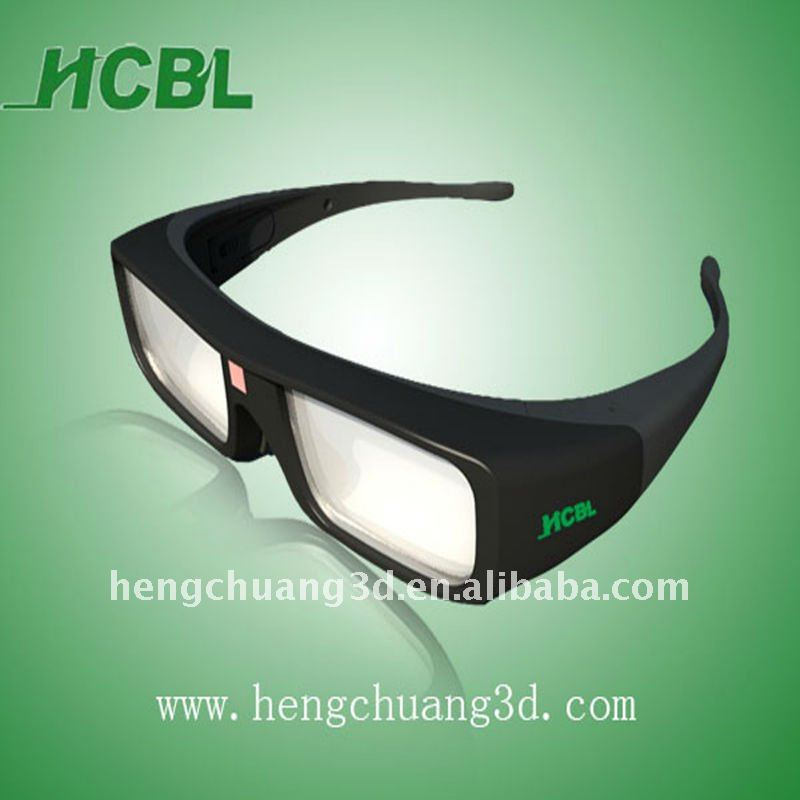HCBL comfortable frame active shutter 3D glasses for tv xpand cinema
