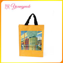 Promotional full color printing pp woven bag shopping
