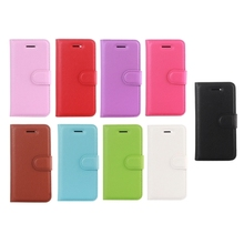 New Arrival Litchi Texture Horizontal Flip Leather Case for iPhone5 with Holder & Card Slots & Wallet case