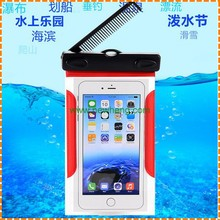 Wholesale Neck Ganging Bag Swim Travel Waterproof Phone Pouch Case for iphone 7 7 plus