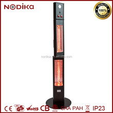 Electric infrared heater outdoor Terracotta patio heater Vertical electrical winter heater