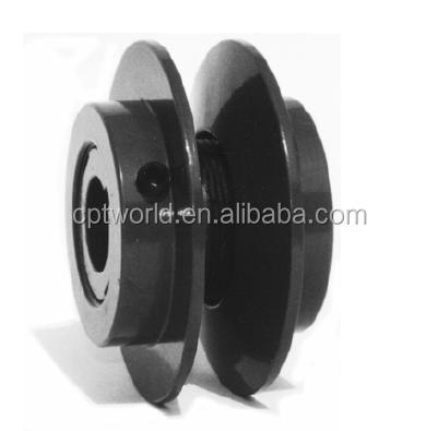 Two grooves dual adjustable belt pulleys 2VP for v belts