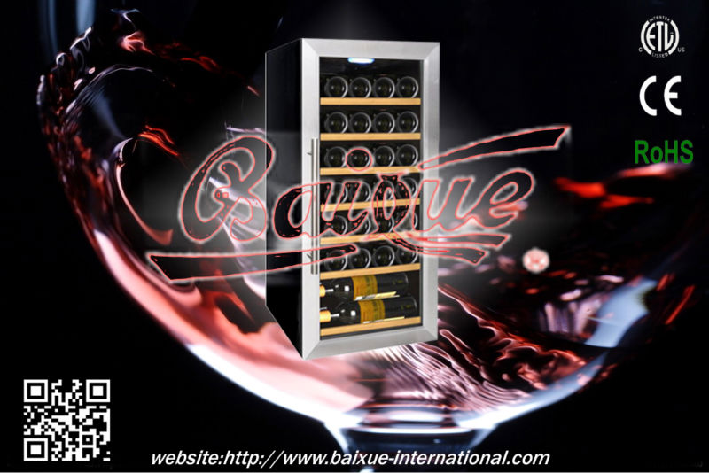 28-Bottle Capacity Free Standing Single Zone Wine Cooler /Cellar, SN28 CE/ETL/RoHS standard