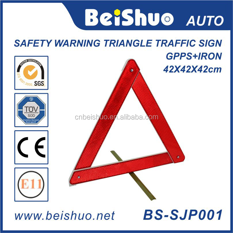 Red Safety Reflective Warning Triangle Traffic Sign