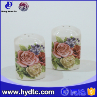 ceramic decal desgin salt and pepper shakers wholesale