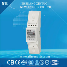single phase AC electricity din rail energy meter with LED