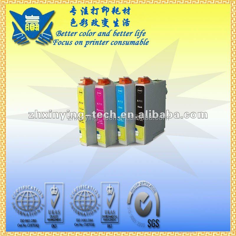 China supplier, Compatible Ink Cartridge for Epson T0711/T0712/T0713/T0714
