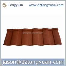 Wholesale Indonesia market new building materials roofing structure China factory price color stone coated 8 waves roof tiles