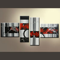 Abstract group Oil Paintings for wall hanging art