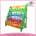 China made nursery furniture cheap plastic colorful sand school bookcase