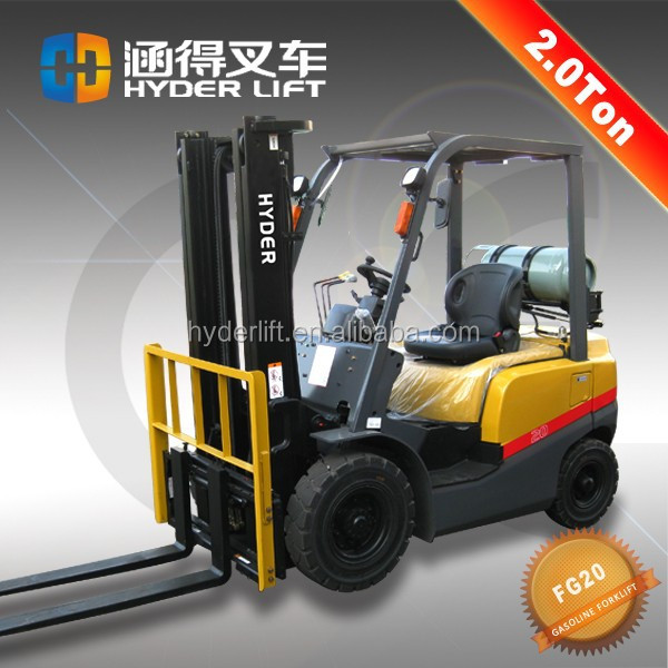 bin tipper for forklift 2t gasoline truck for palm oil termos