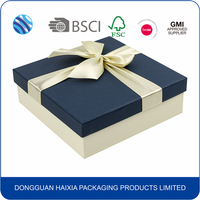 Custom Logo Decorative New Style Empty Bow Tie Gift Packaging Paper Box