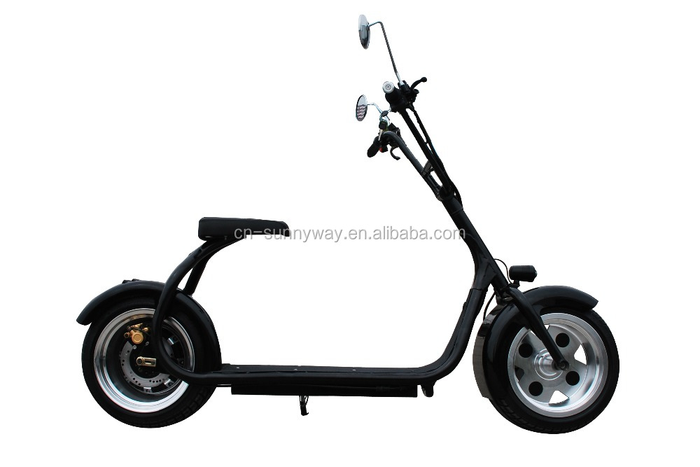Fashion design hottest disc brake Harley citycoco style 2 wheels mobility scooter for adults