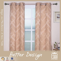 2PCS JACQUARD BLACKOUT CURTAIN PANELS