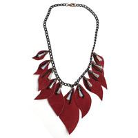 navajo fire ladies leather handmade costume jewelry necklace