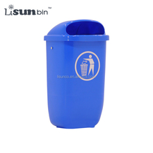 Plastic Twins Dustbin with Metal Standing