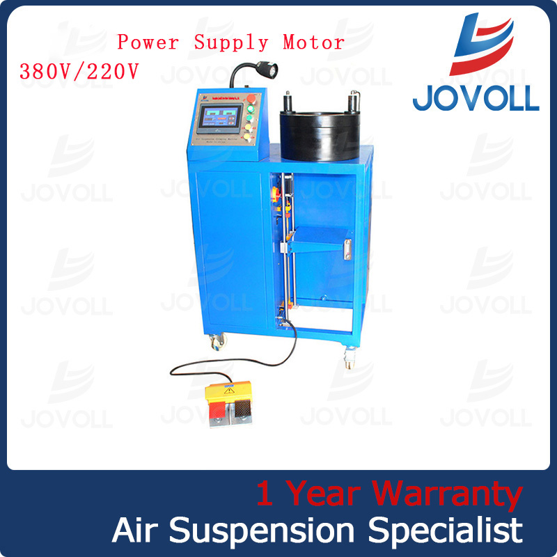 Hydraulic hose crimping machine for air spring air suspension shock & shock absorber
