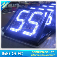 price 7 segment banner sign \ number 7 segment signage panel \ digit 7 segment screen display
