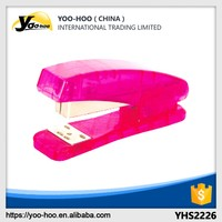 Red color plastic stapler for promotion school and office