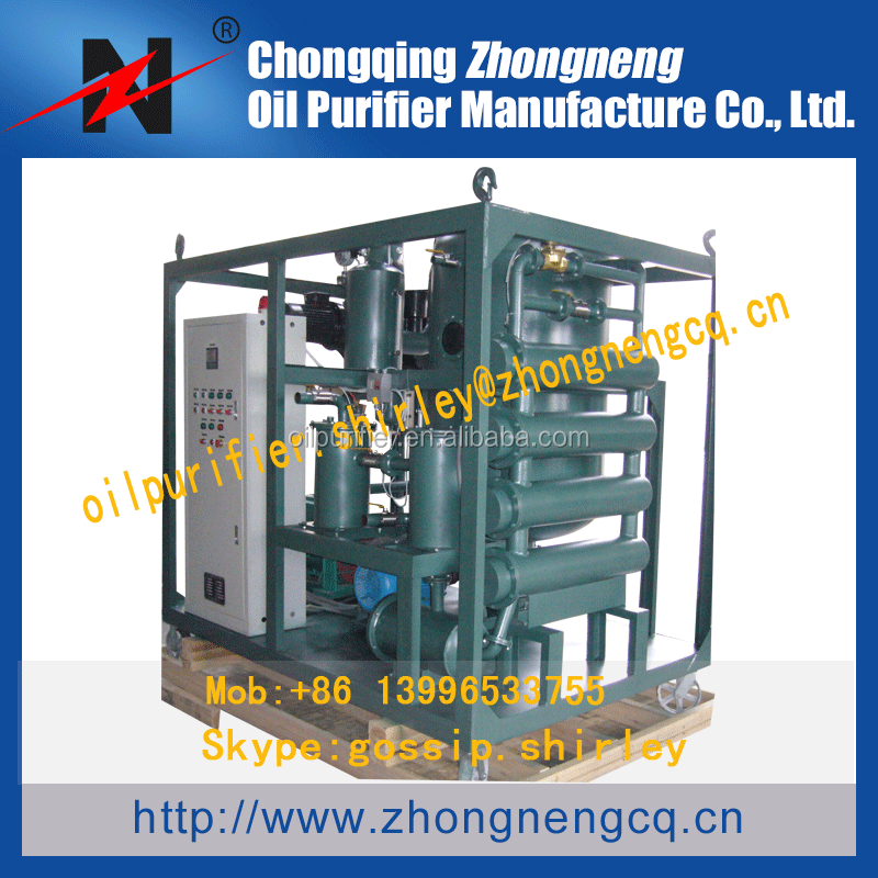Vacuum Aged Transformer Oil Purifier Insulation Oil Refinery ZYD