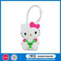 Cute hello kitty bath body works antibacterial silicone hand sanitizer holder